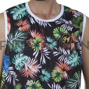 Αμάνικο Μπλουζάκι All Over Print FREE WAVE 21125-1 SS20 Μαύρο