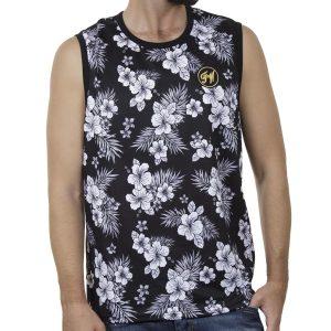 Αμάνικο Μπλουζάκι All Over Print FREE WAVE 21125-2 SS20 Μαύρο