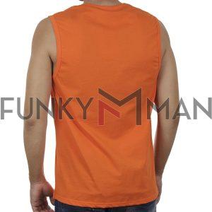 Αμάνικο Μπλουζάκι FREE WAVE 21127 SS20 Πορτοκαλί