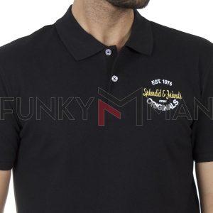 Κοντομάνικο Fashion Polo SPLENDID 43-206-019 SS20 Μαύρο