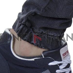 Τζιν Chinos Παντελόνι με Λάστιχα BLADE BL8A FW20 Ανθρακί