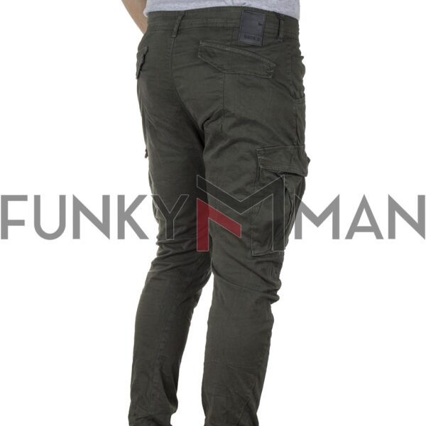 Cargo Παντελόνι Back2jeans M12 FW20 ARMY Χακί