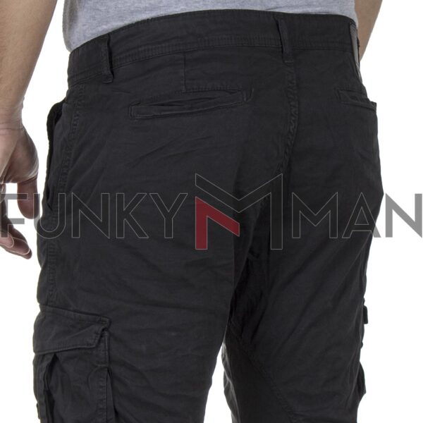 Cargo Παντελόνι Back2jeans M23 FW20 ARMY Ανθρακί