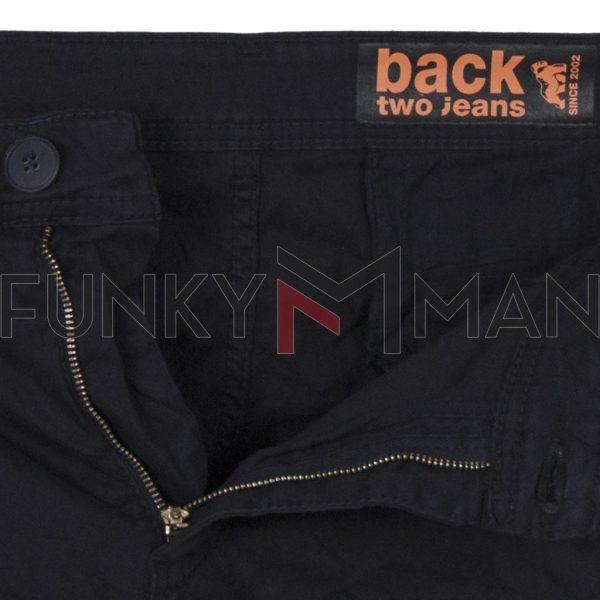 Cargo Παντελόνι Back2jeans M23 FW20 ARMY Μαύρο