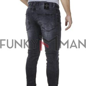 Τζιν Παντελόνι Slim DAMAGED R15 FW20 Μαύρο