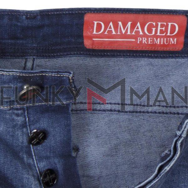 Τζιν Chinos Παντελόνι Slim με Λάστιχα DAMAGED R26A SS20 Μπλε