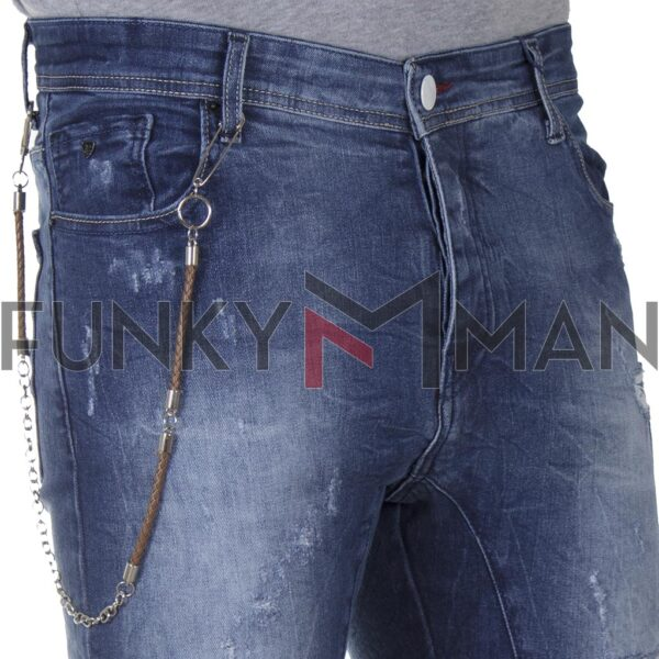 Τζιν Παντελόνι DAMAGED R3 SS20 Super Skinny Μπλε