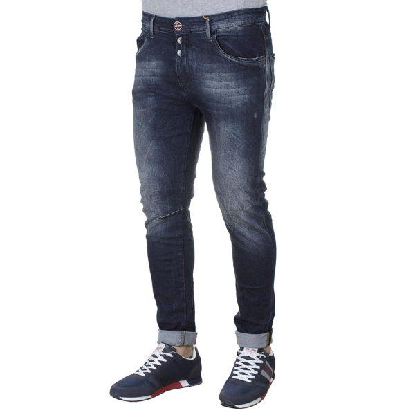Τζιν Παντελόνι Slim DAMAGED R34 FW20 Μπλε