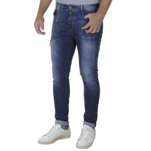 Τζιν Παντελόνι Slim Fit DAMAGED R34 SS20 Μπλε