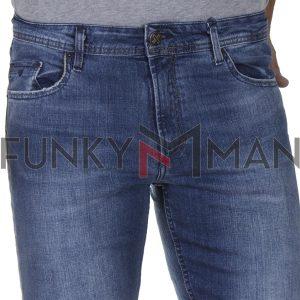 Τζιν Παντελόνι Slim Fit DAMAGED R76 SS20 Μπλε