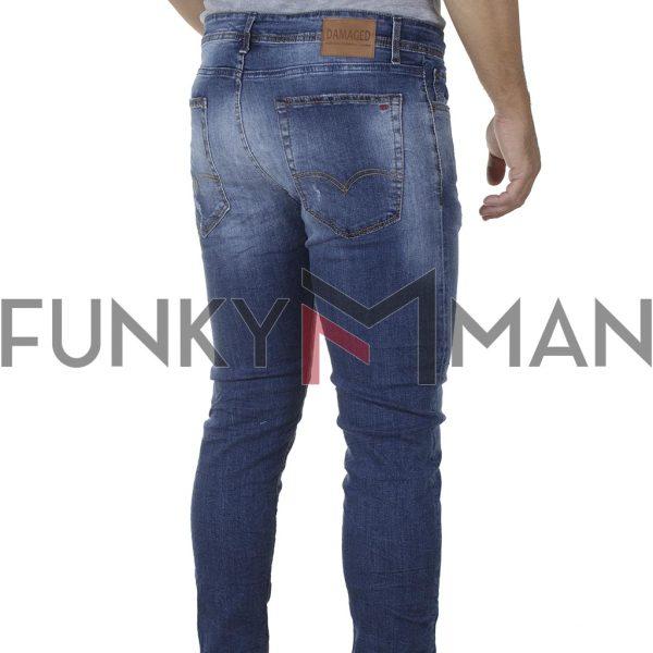 Τζιν Παντελόνι Skinny DAMAGED R9 SS20 Μπλε