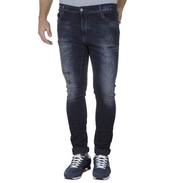 Τζιν Παντελόνι Super Skinny DAMAGED US1F FW20 σκούρο Μπλε