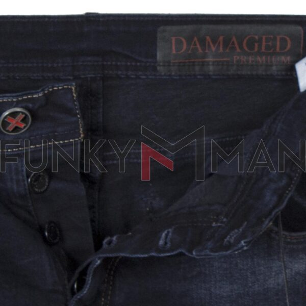 Τζιν Παντελόνι Slim DAMAGED US34F FW20 σκούρο Μπλε