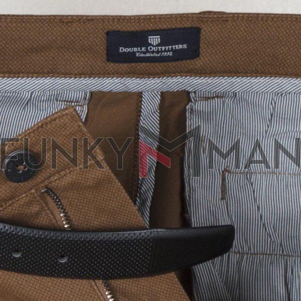 Παντελόνι Chinos All Over Print DOUBLE CP-230 FW20 Camel