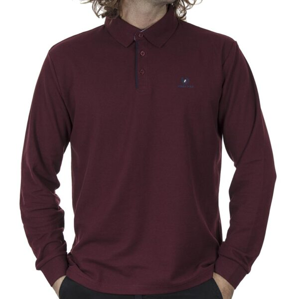 Μπλούζα Polo Pique DOUBLE GS-36 FW20 Wine Red