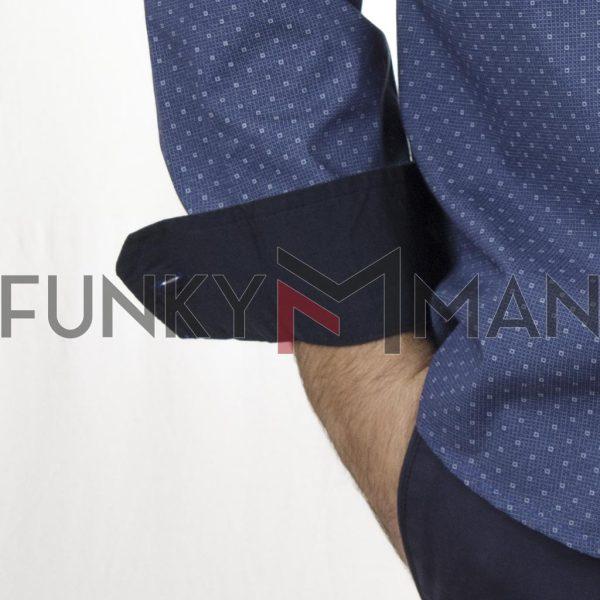 Πουκάμισο Regular Fit DOUBLE GS-506 FW20 Μπλε ρουά