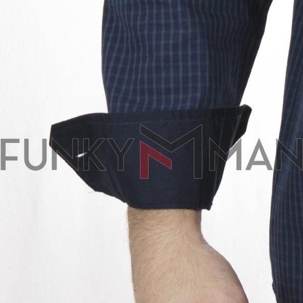Καρό Πουκάμισο Regular Fit DOUBLE GS-508 FW20 Μπλε