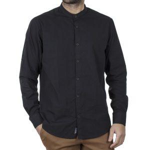Μάο Πουκάμισο Mao Collar Regular Fit DOUBLE GS-512 FW20 Μαύρο