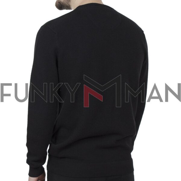 Πλεκτό Special Yarn Sweater DOUBLE KNIT-41 FW20 Μαύρο