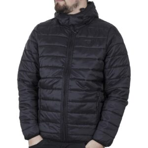 Hooded Puffer Jacket DOUBLE MJK-149 FW20 Μαύρο