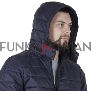 Hooded Puffer Jacket DOUBLE MJK-149 FW20 Navy