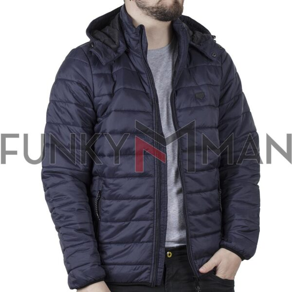 Hooded Puffer Jacket DOUBLE MJK-149 FW20 Navy