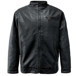 Jacket Δερματίνη DOUBLE MLJK-06 FW20 Μαύρο