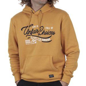 Φούτερ Hoodie DOUBLE MTOP-58 FW20 σκούρο Κίτρινο