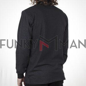 Μπλούζα Polo Jersey DOUBLE PS-253 FW20 Μαύρο