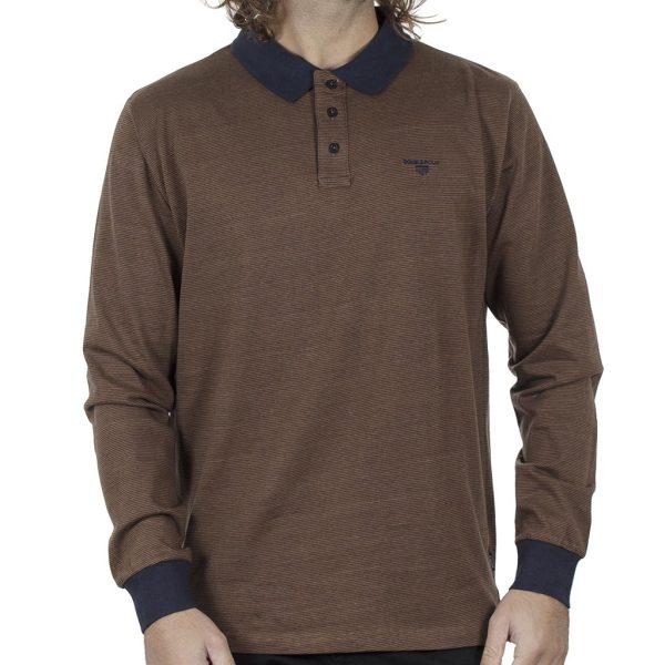 Μπλούζα Polo Jersey DOUBLE PS-254 FW20 Καφέ