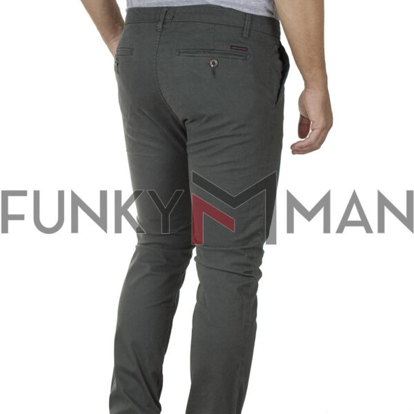 Chinos Παντελόνι FUNKY BUDDHA FBM002-001-02 Pesto