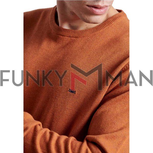 Βαμβακερή Πλεκτή Μπλούζα FUNKY BUDDHA FBM002-001-09 Mustard