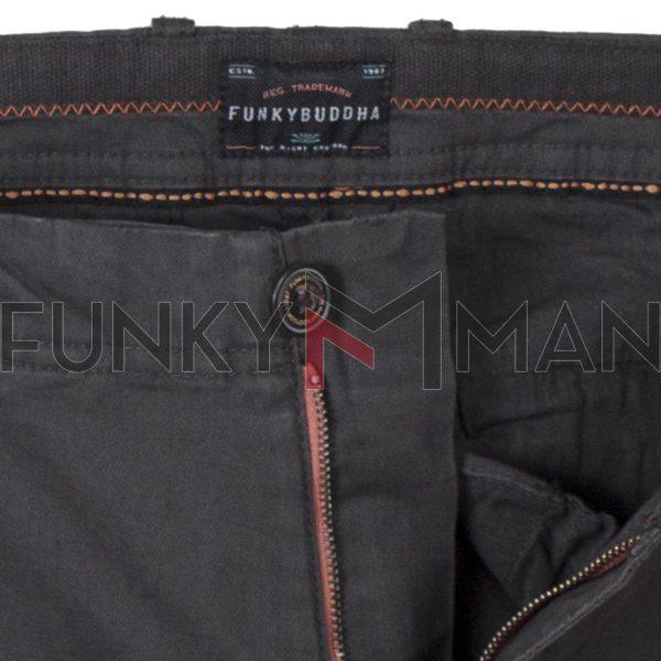 Cargo Παντελόνι FUNKY BUDDHA FBM002-002-02 σκούρο Γκρι