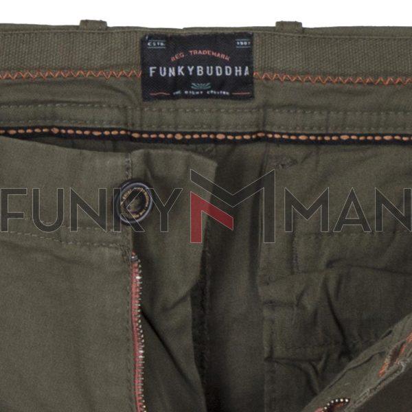 Cargo Παντελόνι FUNKY BUDDHA FBM002-002-02 Olive