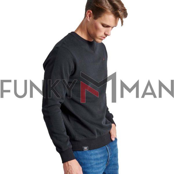 Φούτερ FUNKY BUDDHA FBM002-003-06 Μαύρο