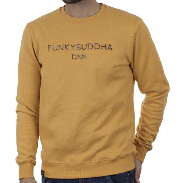 Φούτερ FUNKY BUDDHA FBM002-004-06 Mustard