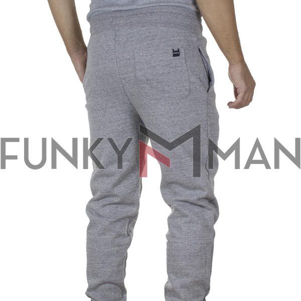Παντελόνι Φόρμας FUNKY BUDDHA FBM002-031-02 Γκρι