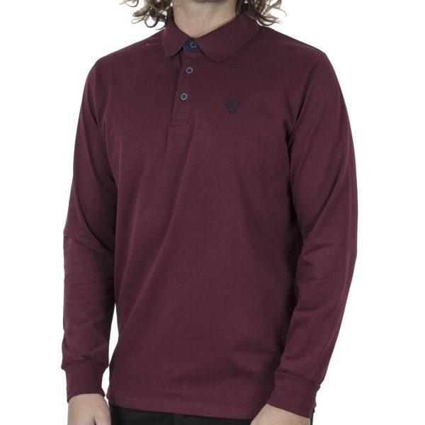 Μπλούζα Polo Jersey REBASE RPS-252 FW20 Wine Red