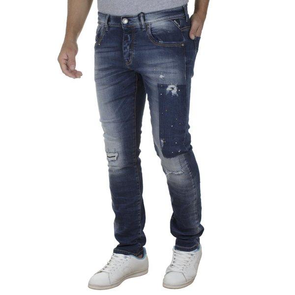 Τζιν Παντελόνι Slim Fit SHAFT Jeans 5700 SS20 Denim Μπλε