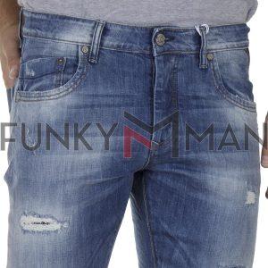 Τζιν Παντελόνι Slim Fit SHAFT Jeans 5715 SS20 ανοιχτό Μπλε