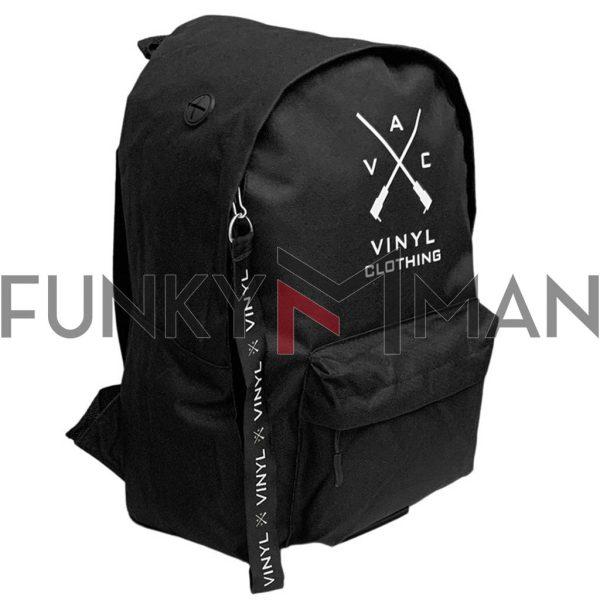 Σακίδιο Πλάτης VINYL BASIC BACKPACK 70135 Μαύρο