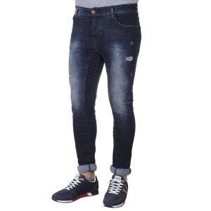 Τζιν Παντελόνι Super Skinny DAMAGED US3E FW20 σκούρο Μπλε