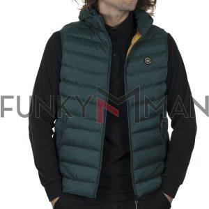 Μπουφάν Γιλέκο Vest FUNKY BUDDHA FBM002-001-01 Olive