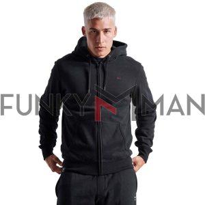 Essential Φούτερ Ζακέτα FUNKY BUDDHA FBM002-001-06 Μαύρο