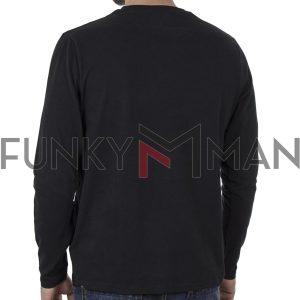 Μπλούζα FUNKY BUDDHA FBM002-001-07 Μαύρο