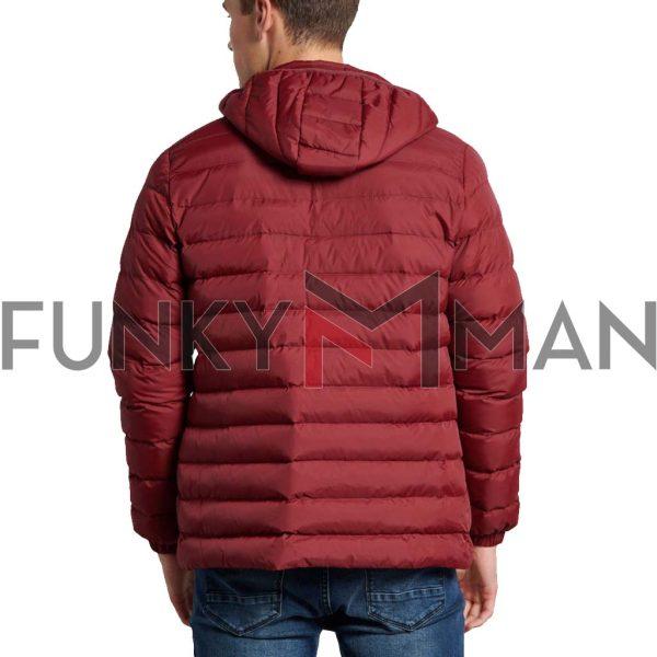 Puffer Jacket FUNKY BUDDHA FBM002-002-01 Cherry