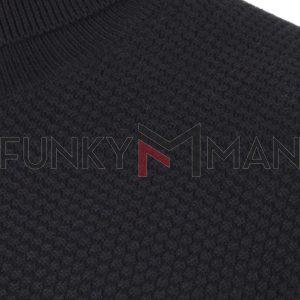 Βαμβακερό Ζιβάγκο FUNKY BUDDHA FBM002-006-09 Μαύρο