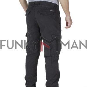 Cargo Παντελόνι με Λάστιχα FUNKY BUDDHA FBM002-010-02 Μαύρο