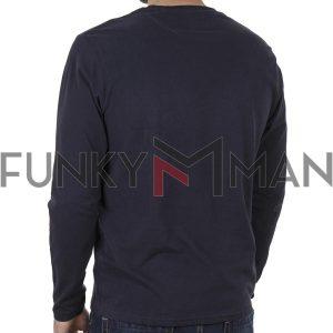 Μπλούζα FUNKY BUDDHA FBM002-023-07 Navy