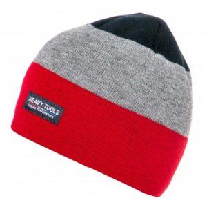 Σκούφος Knitted Hat HEAVY TOOLS PLAUSO Κόκκινο